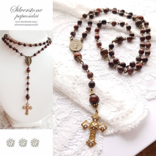 """Rosary """"Red Tiger"""""""