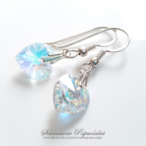 "Earrings ""AB hearts"""