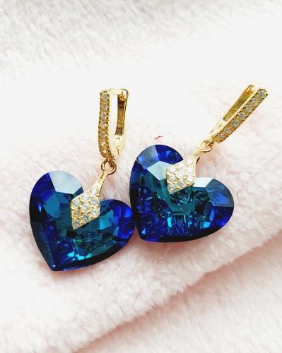 "Auskarai ""Diamond Heart"""
