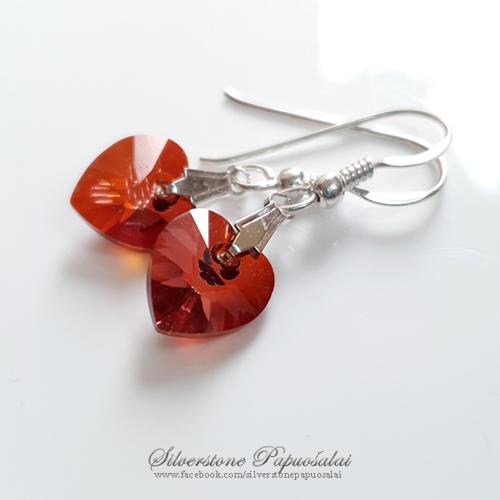 """Earrings """"Red hearts"""""""