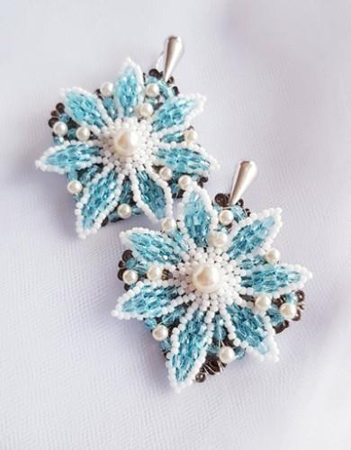 """Earrings """"Blue flowers"""""""