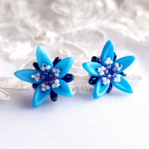 "Earrings ""Blue Stars"""