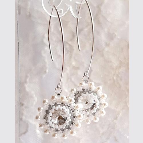 """Earrings """"Crystal Snowflakes"""""""