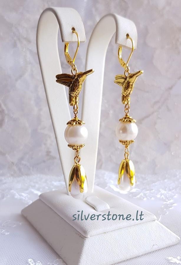 "Earrings ""Golden birds"""