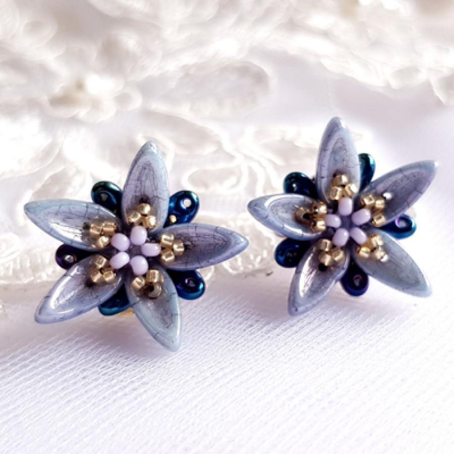 """Earrings """"Grey Stars"""""""