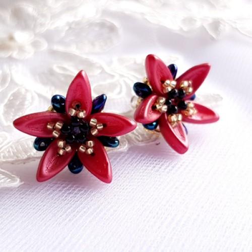 "Earrings ""Red Stars"""