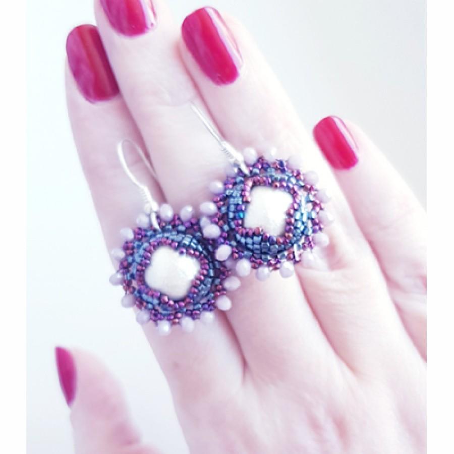 "Earrings ""Sunny Pearls"""