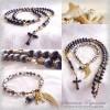 "Rosary ""Black Pearls"""